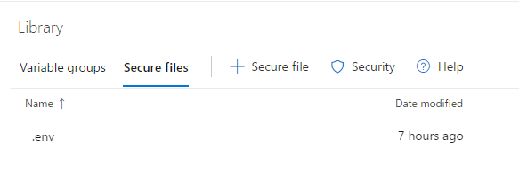secure files browsを押す